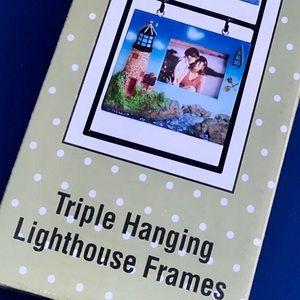 ⭐️4/$15 NEW Triple Hanging Lighthouse Frames